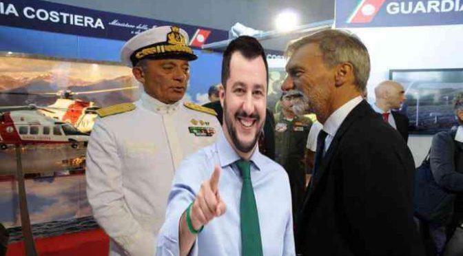 Salvini contro l'ammiraglio del PD: verso rimozione