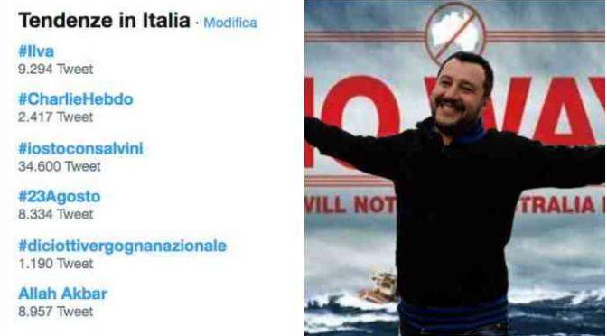 Diciotti, italiani stanno con Salvini: vince 34 a 1