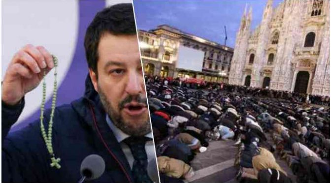 "Salvini: ""Islam incompatibile con l'Italia"""