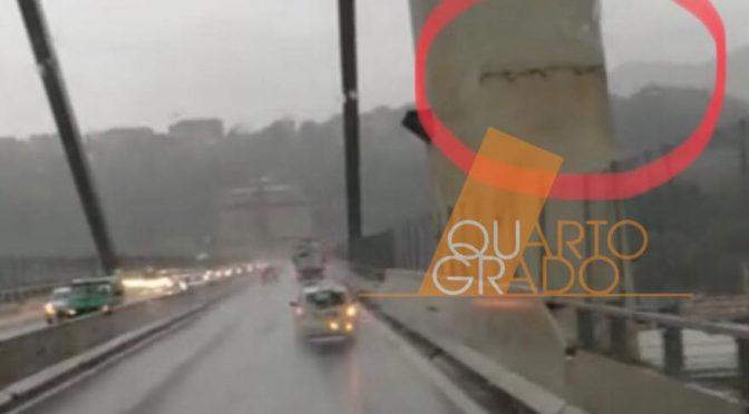 Ponte Morandi, crepa prima del crollo – VIDEO
