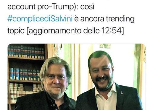 Il complottismo radical chic di Repubblica: #complicediSalvini