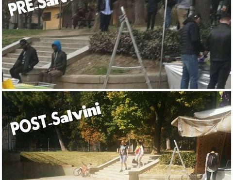 Con Salvini il parco degli spacciatori torna alle famiglie