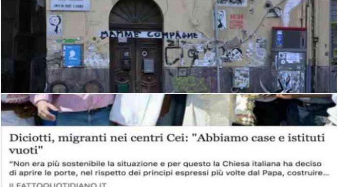 Diciotti, Vaticano sfratta mamme italiane per fare posto – VIDEO