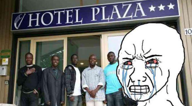 Insoddisfatti: 100 profughi lasciano hotel