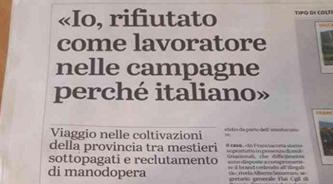 Razzismo: gli rifiutano il lavoro perché italiano