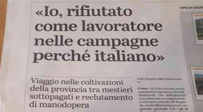 Campi italiani vietati ai disoccupati: governo arruola immigrati