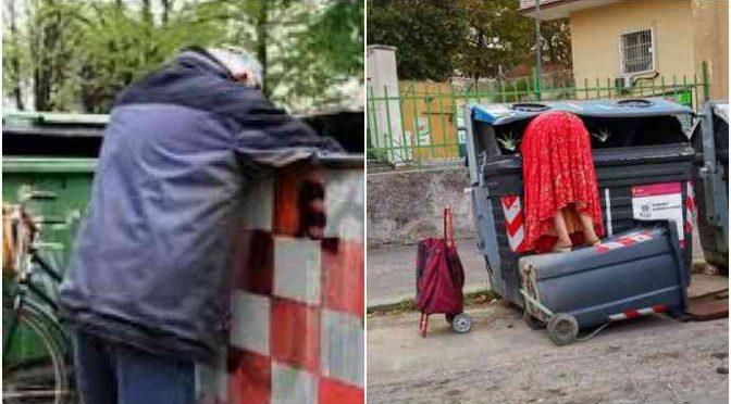 Italiano povero cerca cibo in cassonetto, denunciato per furto