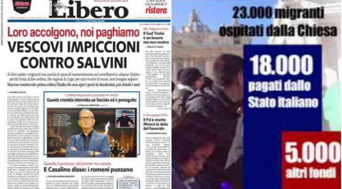 Risultati immagini per vescovi impiccioni con Salvini