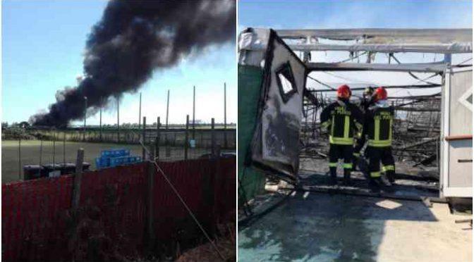 Conetta: profughi incendiano struttura per errore, distrutta