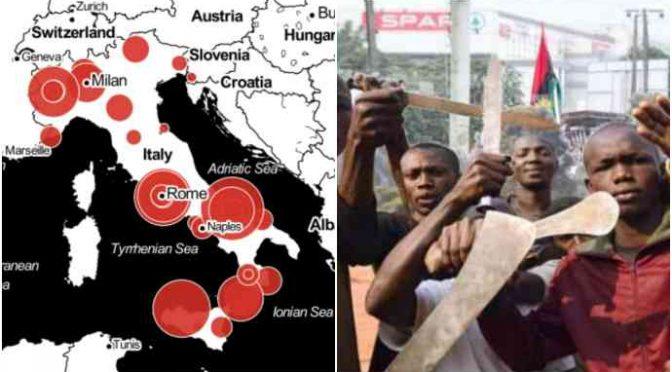 Italia sotto assedio: intere zone sotto il controllo di gang straniere