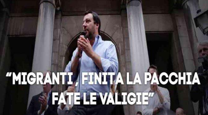 """Lodi, Salvini: """"Immigrati devono pagare come italiani"""""""