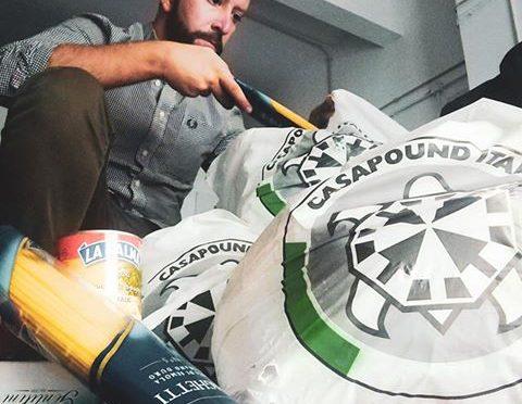 Lodi, CasaPound porta cibo a poveri italiani
