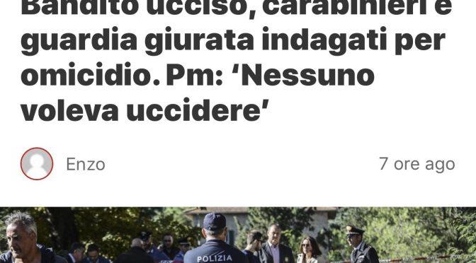 """Carabinieri indagati per morte bandito, Salvini li difende: """"Fatto dovere"""""""