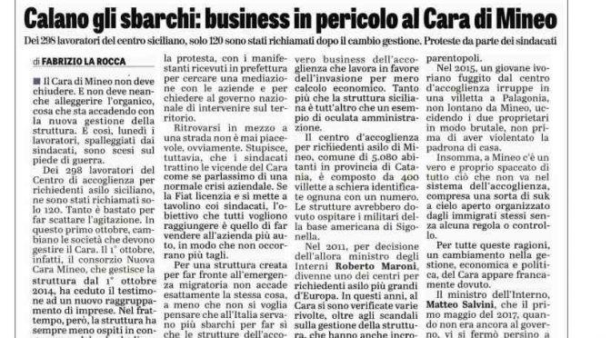 Effetto Salvini si abbatte sul business dell'immigrazione