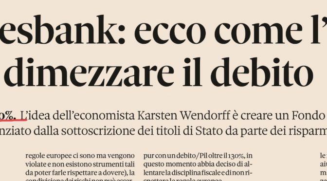 Bundesbank vuole scaricare il debito sugli italiani