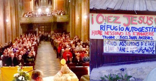 Attivisti migranti fanno irruzione durante Messa contro lo sgombero