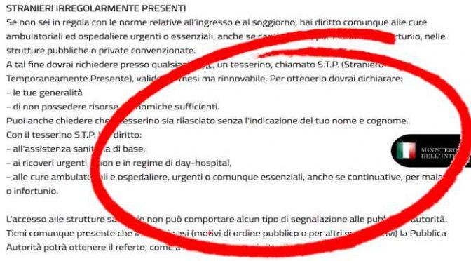 Italiani pagheranno il superticket per finanziare le cure gratis a 500mila clandestini