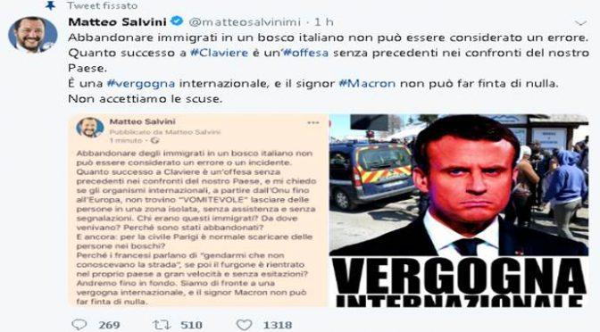 Claviere, Salvini respinge scuse Macron: offesa senza precedenti