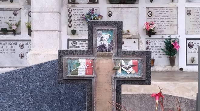 Vandalizzata croce in memoria fascisti trucidati da partigiani