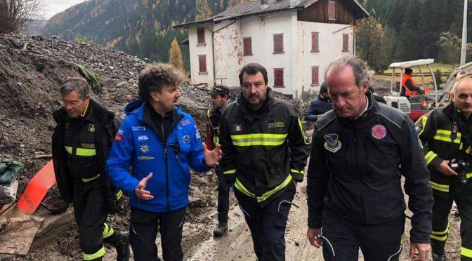 """Maltempo, Salvini contro Ue: """"Letterina in archivio, soldi per zone colpite"""""""