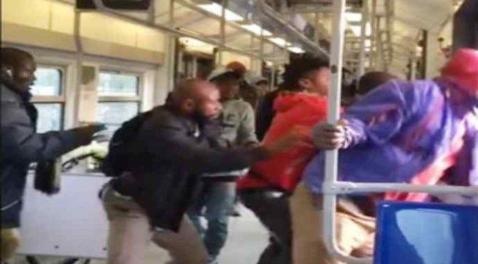 Terrore: immigrati lanciano passeggero giù dal treno – VIDEO