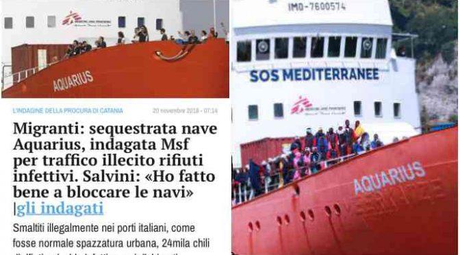'Medici senza frontiere' rinviata a giudizio: ha scaricato rifiuti infetti degli immigrati in Italia