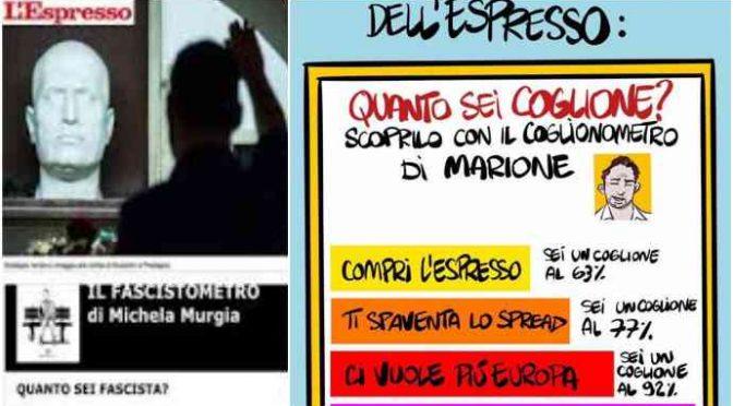 'Fascistometro', attenti l'Espresso vi scheda: dati a rischio?