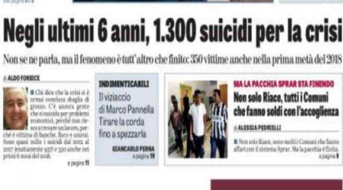 I governi Pd hanno fatto 1.600 morti
