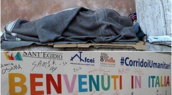 Muore di freddo su una panchina a Milano, corridoi umanitari