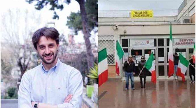 Sinistra vieta Tricolore in giorno Vittoria: protesta – FOTO