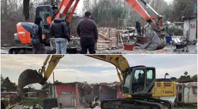 Salvini scatenato, rasi al suolo campi nomadi da nord a sud