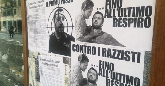 Minacce di morte contro Salvini, sinistra scatenata – FOTO