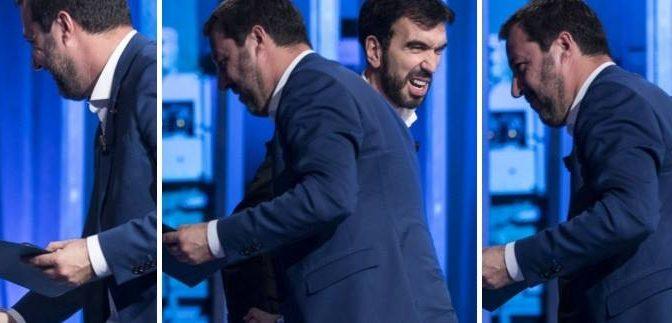 Maschio Alfa incontra maschio beta: Salvini stringe la mano a Martina – FOTO