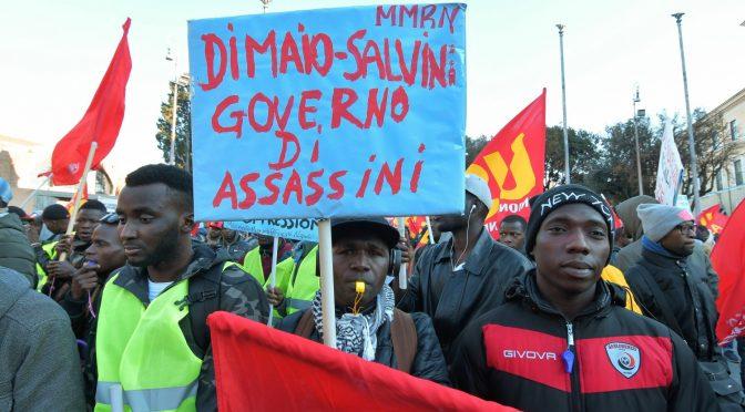 Immigrati, Salvini: possono fare tutti i cortei che vogliono, pacchia finita