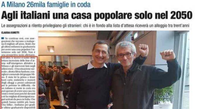 Sala pensa agli immigrati e lascia gli italiani al gelo