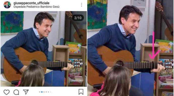 Pd tarocca le FOTO di Conte che visita i bimbi malati