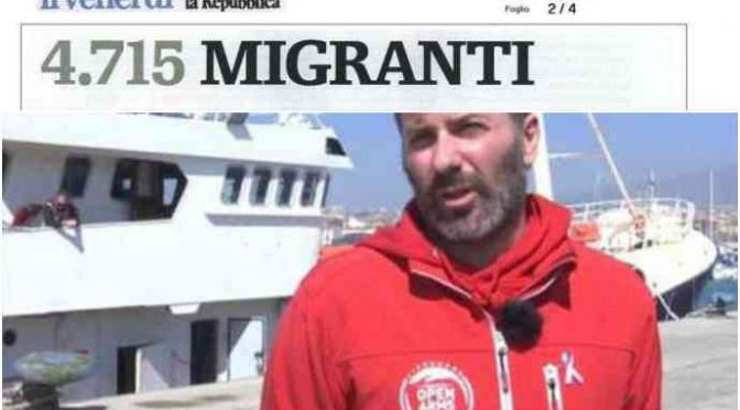 """Ong carica di clandestini, Salvini: """"Porti italiani sono chiusi"""""""