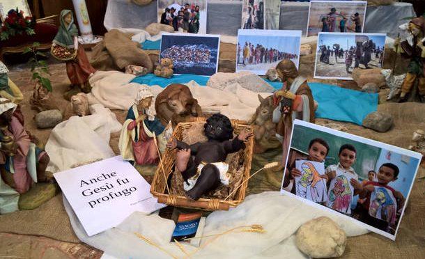 Busto Arsizio: Gesù Bambino è un clandestino nero