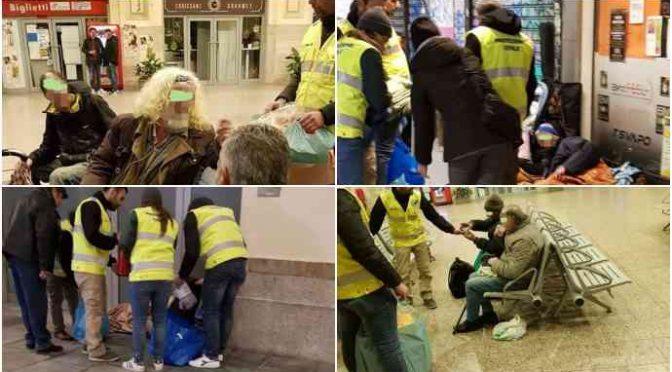 Vescovi pensano all'Ires, CasaPound sfama senzatetto italiani