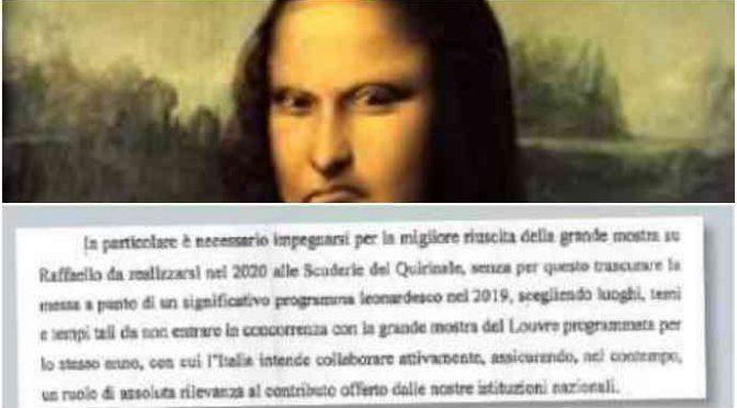 Governo presta le opere di Leonardo da Vinci alla Francia