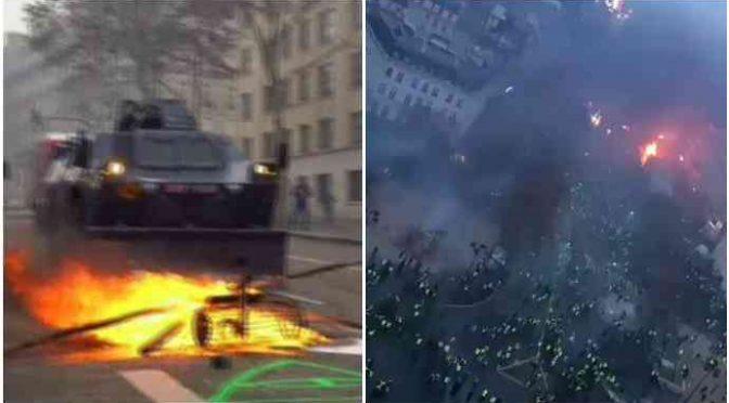 Parigi brucia: scontri, spari e blindati – VIDEO