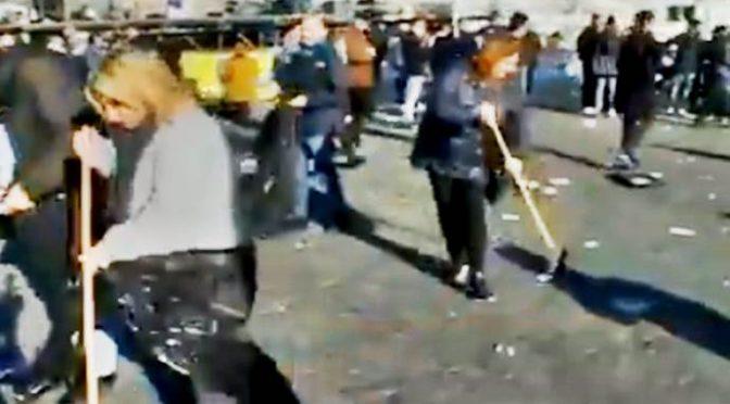 'Orgoglio italiano': come i leghisti hanno ripulito la piazza di Roma – VIDEO
