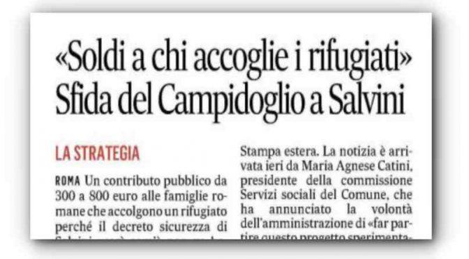 Roma, dalla giunta casa e lavoro per gli immigrati abusivi sgomberati da Salvini