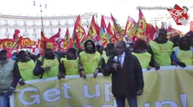 Immigrati marciano su Roma contro Salvini – VIDEO