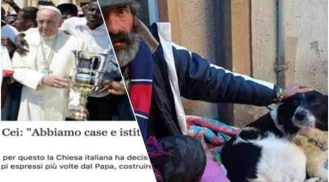 Per lui e il suo cane PD e Chiesa non hanno case: è italiano