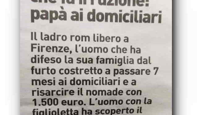Picchia ladro rom in casa sua: condannato a 7 mesi e a risarcirlo