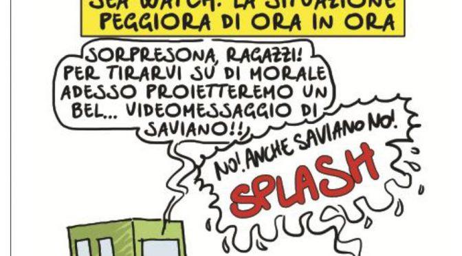 """Lerner contro la vignetta: """"Umilia i migranti"""""""