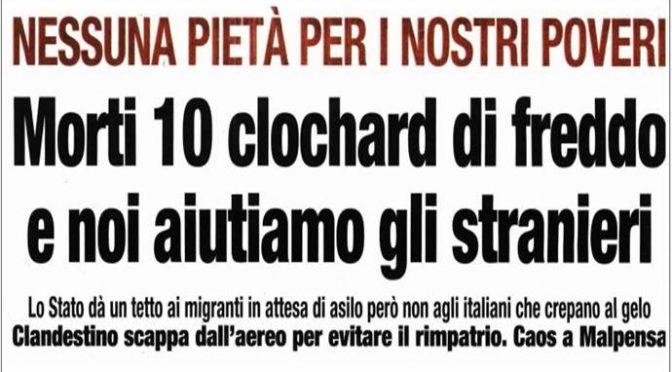 Strage di senzatetto mentre teniamo 80mila clandestini in hotel e navi di lusso: morti di freddo a Roma e Milano