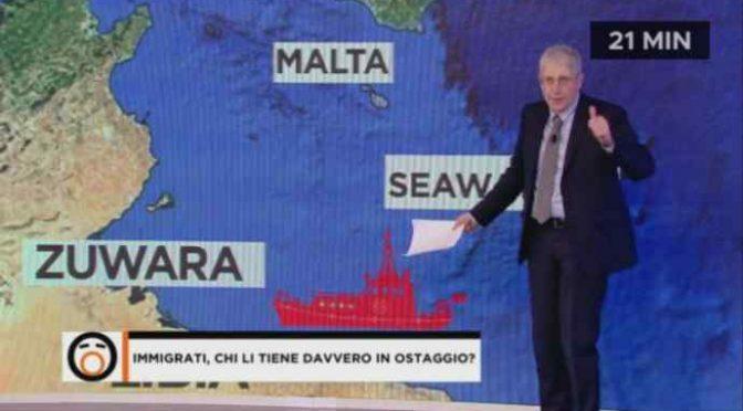 Giordano affonda SeaWatch: aprire i porti è un favore ai trafficanti – VIDEO
