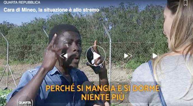 """Mineo, profughi: """"Mangiamo e dormiamo, terribile"""" – VIDEO"""